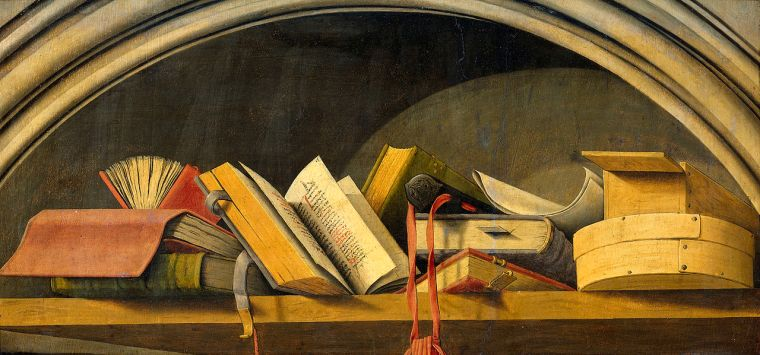 1280px-Nature_morte_aux_livres_-_Triptyque_de_l'Annonciation_d'Aix_-_Rijksmuseum