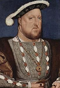 Henri VIII tel qu'il fut dessiné par le peintre Hans Holbein en 1536