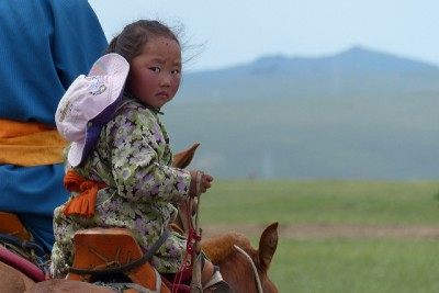 Mongolie Khentii petite fille nadaam