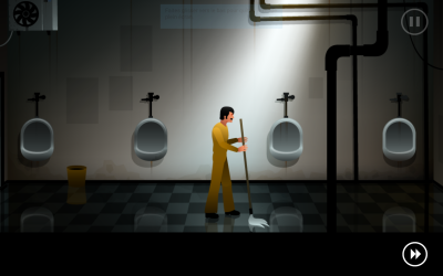the silent age nettoyer les toilettes