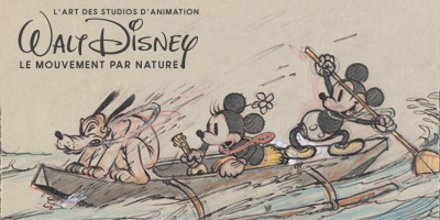 affiche Walt Disney le mouvement par nature art ludique