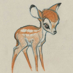 crayonné Bambi (1942)