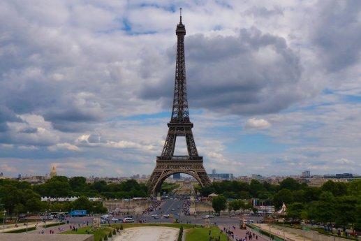 Tour Eiffel depuis le Trocadero été 2016