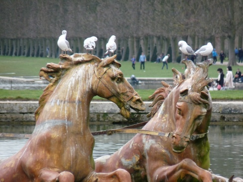 Fontaine d'Apollon en hiver  Versailles