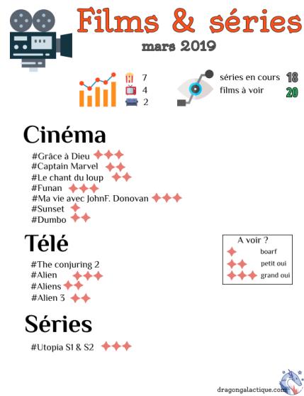 infographie films et séries mars 2019 dragon galactique