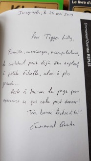 Dédicace Emmanuel Quentin Replis