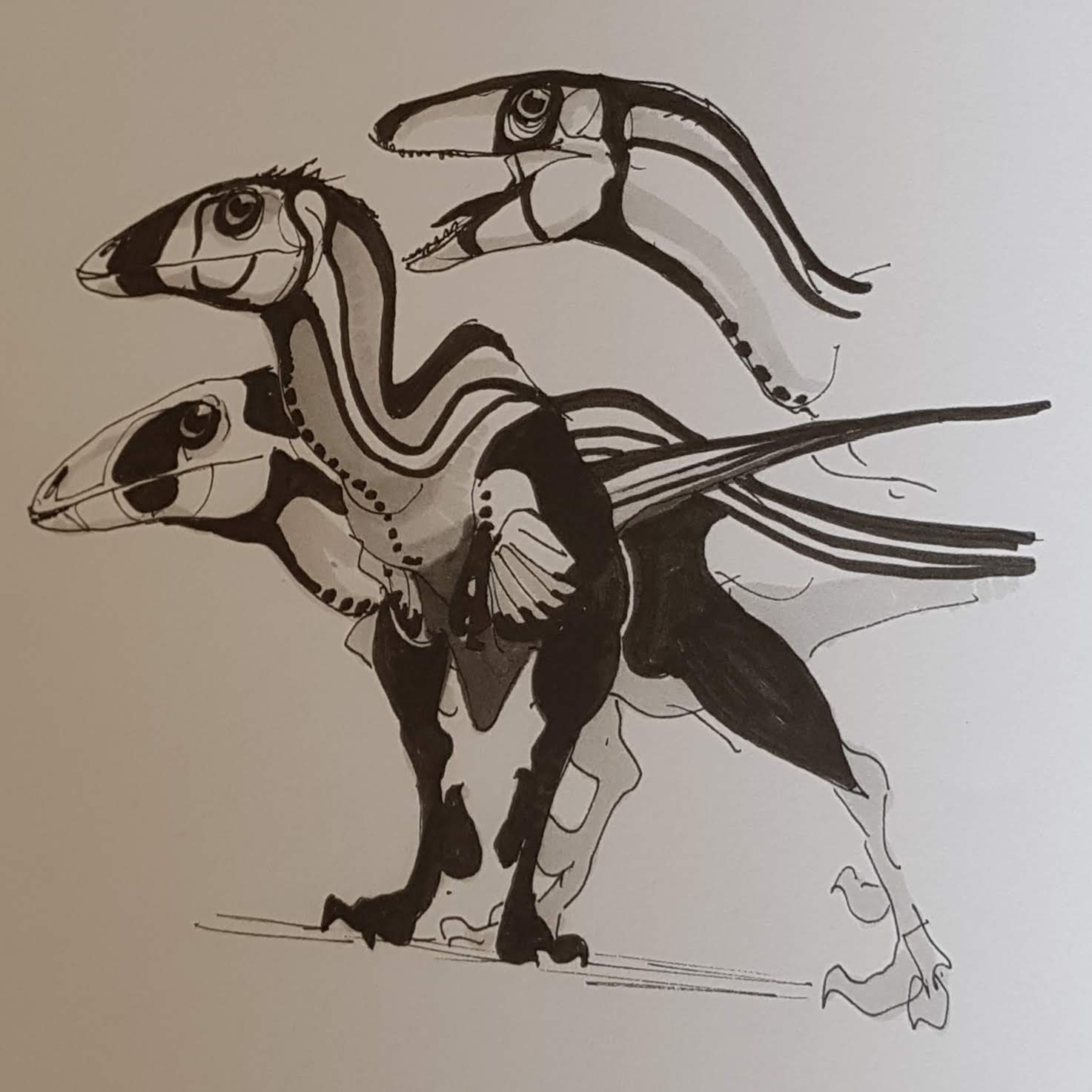 Tales from the loop carte dinosaure