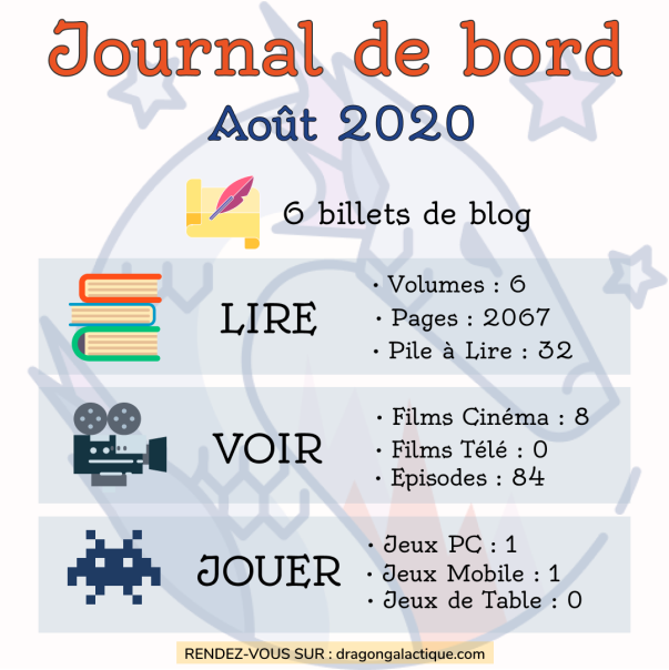 journal de bord aout 2020 le dragon galactique